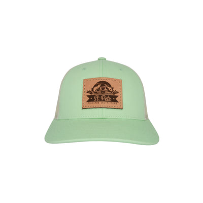 SPFO Green/Birch Leather Patch Hat