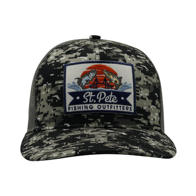 SPFO Camo Black Trucker Hat