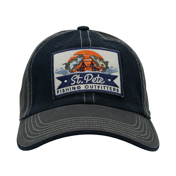 SPFO Navy Blue & White Trim Dad Cap