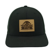 SPFO Black Leather Patch Hat