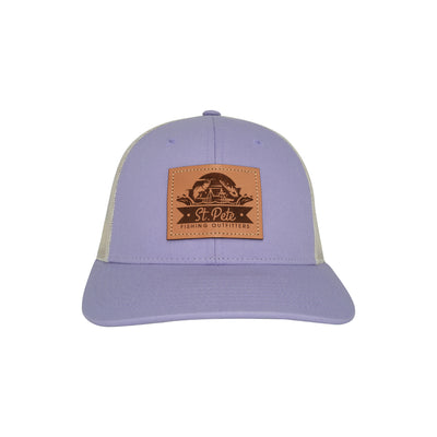 SPFO Lilac/Birch Leather Patch Hat