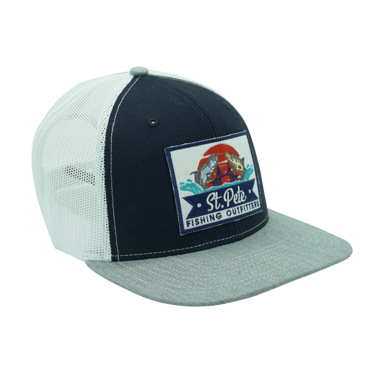 SPFO Navy Tri-Color Mesh Patch Hat