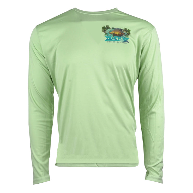 SPFO Florida Fish L/S - Olive Green