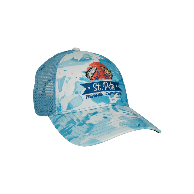 SPFO Cloud Camo Blue Patch Hat