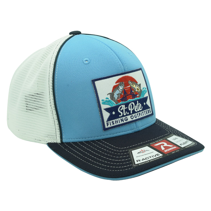 SPFO Blue Tri-Color Flexfit Patch Hat
