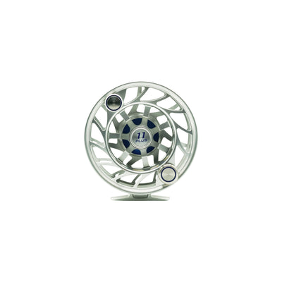 Hatch Finatic 11 Plus Silver/Blue Fly Reel