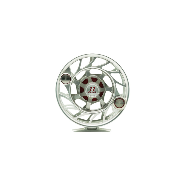 Hatch Finatic 11 Plus Silver/Red Fly Reel
