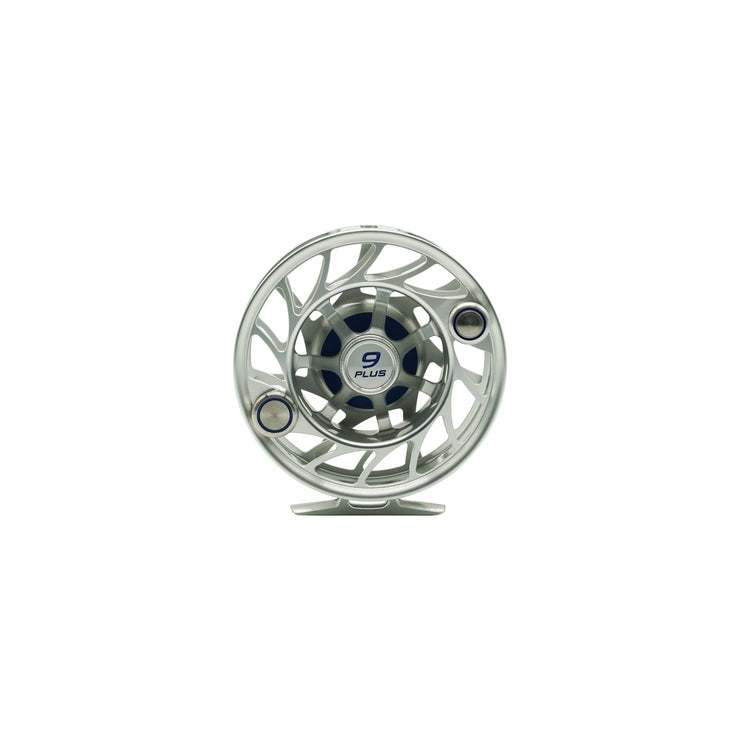 Hatch Finatic 9 Plus Silver/Blue Fly Reel