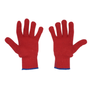 Joy Fish Red Nylon/Polyester Gloves - Lee Fisher Sports