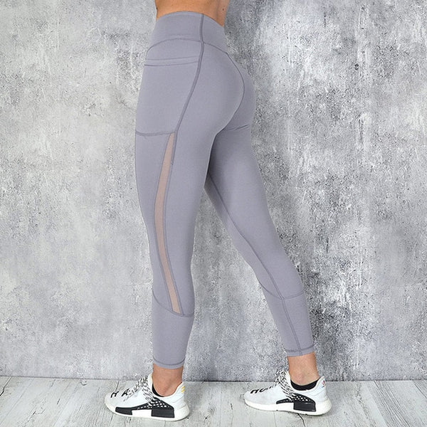 f852f686fdc9b ... NORMOV Women Leggins Mujer Pocket Push Up Pants Women Active Wear Workout  High Waist Patchwork Jeggings ...