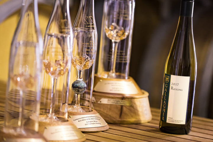 2017 Riesling winning four Trophies