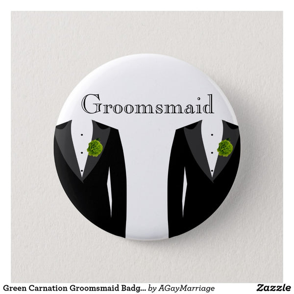 Groomsmaid Button