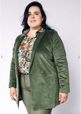 Empower Cord Double-Breasted Blazer