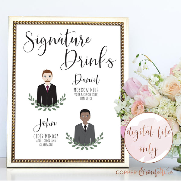 Illustrated Signature Drink Sign