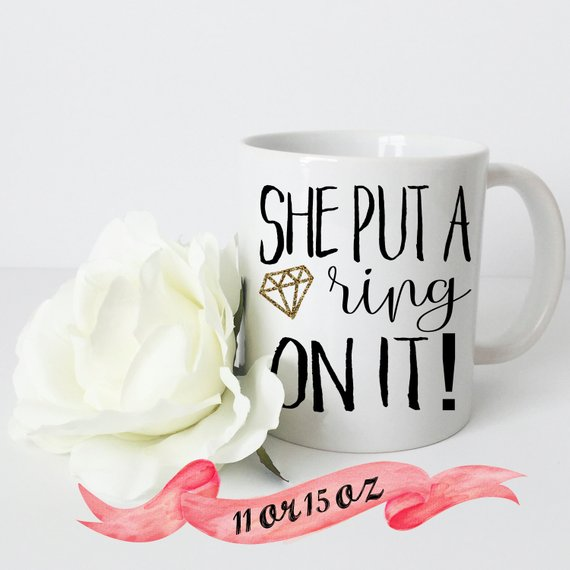 She Put A Ring On It Engaged Coffee Mug