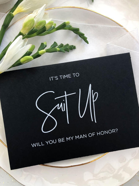 Man of Honor Proposal Card