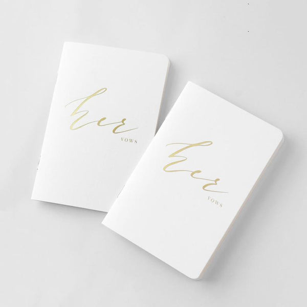 Metallic Gold Foil Vow Books