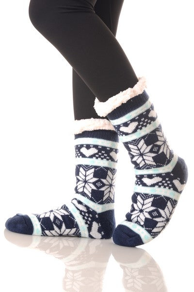 Blue Organic Trouser Winter Socks