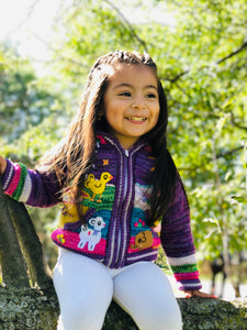 Violet Organic Handcrafted Kid Sweater