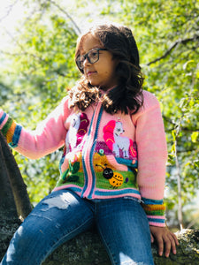 Light Pink Organic Handcrafted Kid Sweater