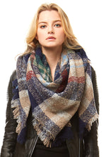 Load image into Gallery viewer, Organic NAVY Oversize Blanket Scarf