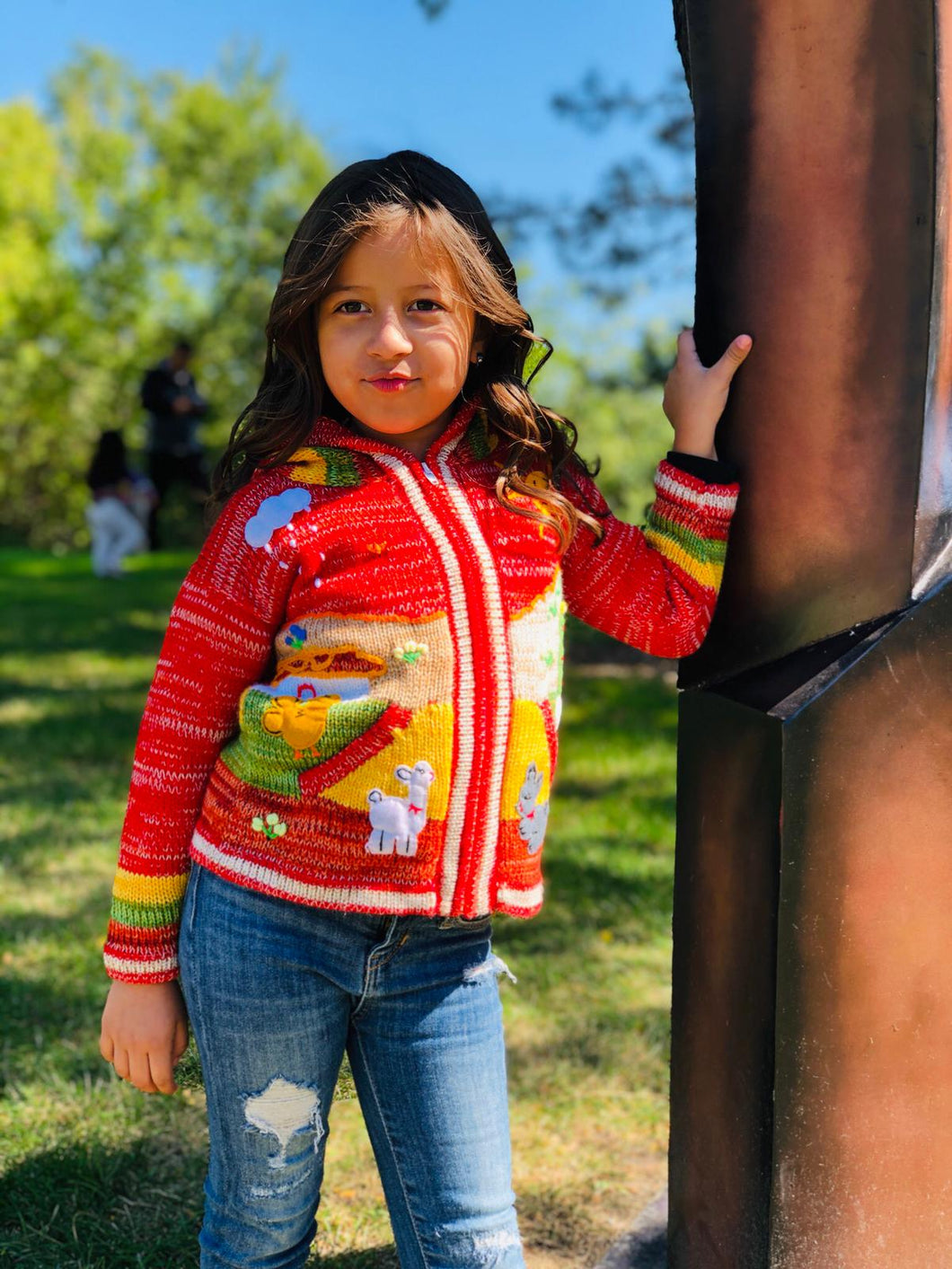 Red Organic Handcrafted Kids Sweater