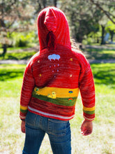 Load image into Gallery viewer, Red Organic Handcrafted Kids Sweater