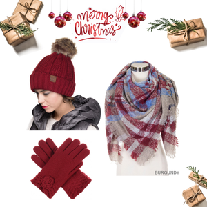 Burgundy Christmas Gift Set