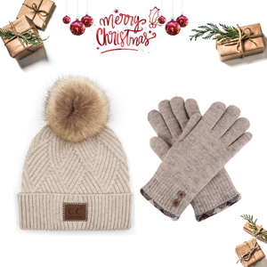 Beige Christmas Gift Set