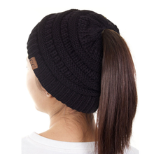 Load image into Gallery viewer, CC Solid Ponytail Beanie