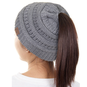 CC Solid Ponytail Beanie