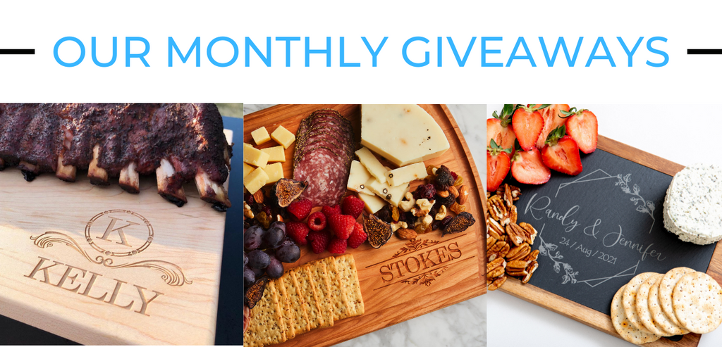 Our Monthly Giveaways