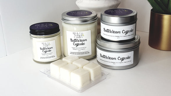 Buttercream Cupcake Scented Natural Soy Candle