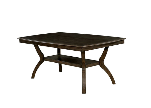 Transitional Style Solid Wood Dining Table