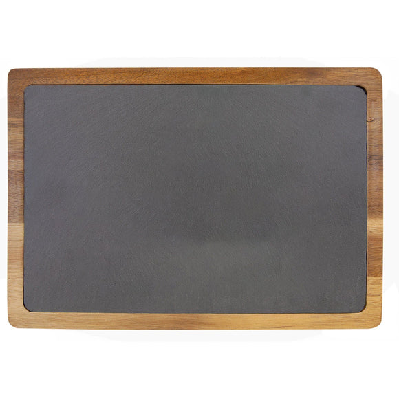 Acacia Wood & Slate Cutting Board (13