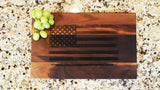 "American Flag Patriotic Engraved Walnut Cutting Board (11"" x 16"") - Hailey Home"