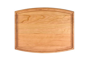"Arched Cherry Cutting Board With Juice Groove (9"" x 12"") - Hailey Home"