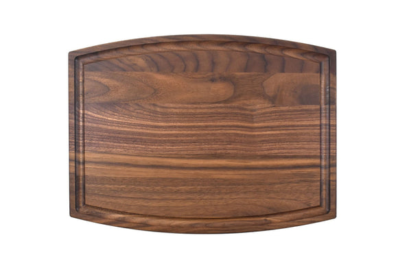 Arched Walnut Cutting Board With Juice Groove (9
