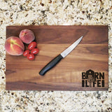 "Barn Life - Engraved Walnut Cutting Board (11"" x 16"") - Hailey Home"