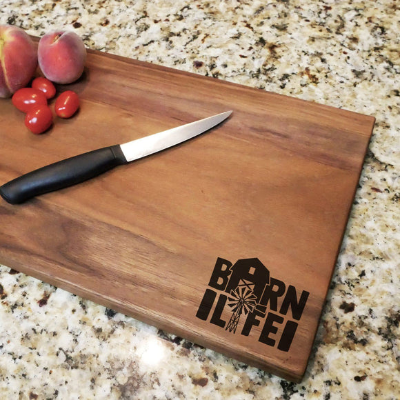 Barn Life - Engraved Walnut Cutting Board (11
