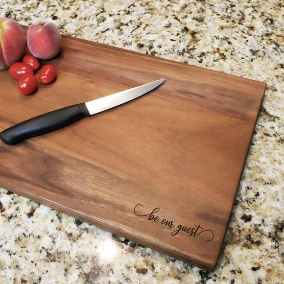Be Our Guest - Engraved Walnut Cutting Board (11