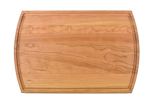 "Cherry Cutting Board With Arched Sides And Juice Groove (10.5"" x 16"") - Hailey Home"