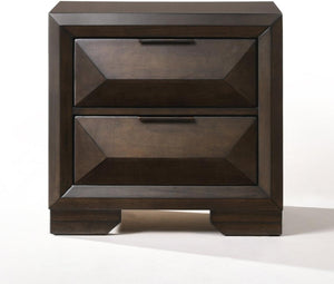 "Espresso Rubber Wood Nightstand - 26"" X 17"" X 25"" - Hailey Home"