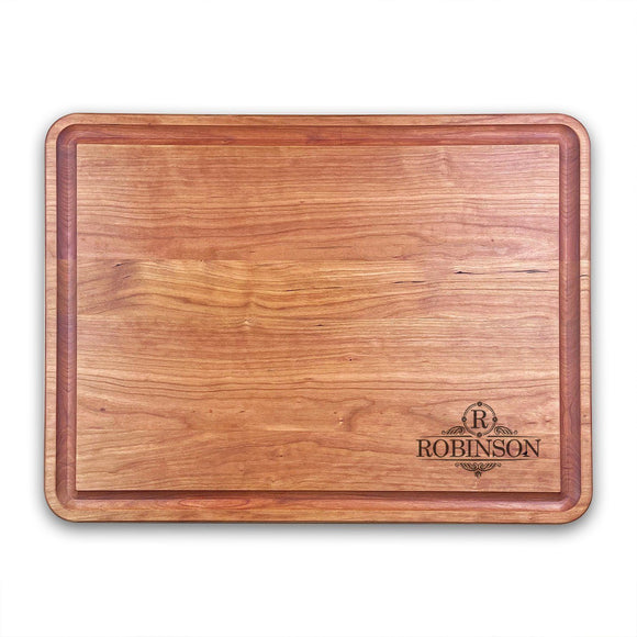 Extra Large Personalized Cherry Chopping Block With Juice Grooves (18