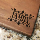"Family Decorative - Engraved Walnut Cutting Board (11"" x 16"") - Hailey Home"