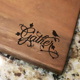 "Gather Decorative - Engraved Walnut Cutting Board (11"" x 16"") - Hailey Home"