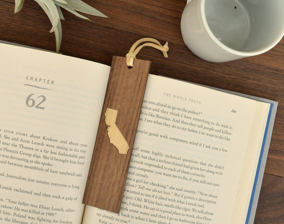 Handmade Wooden Bookmark - Choose Your State - Hailey Home