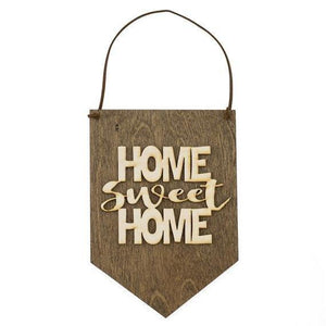Home Sweet Home . Wood Banner - Hailey Home