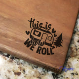 "How We Roll - Walnut Cutting Board (11"" x 16"") - Hailey Home"