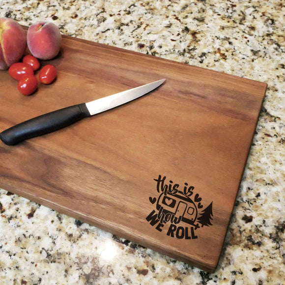 How We Roll - Walnut Cutting Board (11